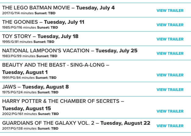 movies line up