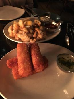 Deep Fried Mac & Cheese sticks and Calmari