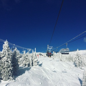 My first bluebird day at Big White